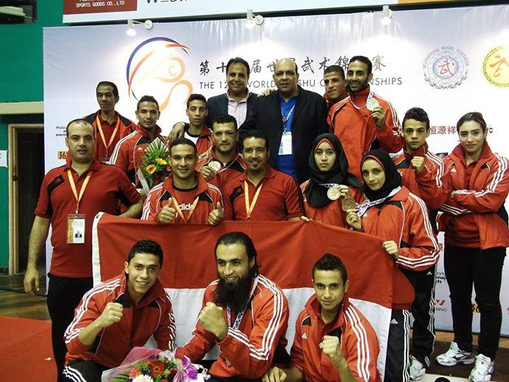 Egyptian Kung Fu team celebrating their medals in Malaysia (Photo courtesy of the Chairman on Kung Fu federation Facebook page)