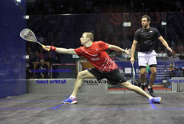 England's Nick Matthew regained exclusive rights to next month's World No.1 Squash Ranking after securing a dramatic five-game victory over Ramy Ashour in Sunday's final of the Case Swedish Open (Photo courtesy of Squashpics.com)