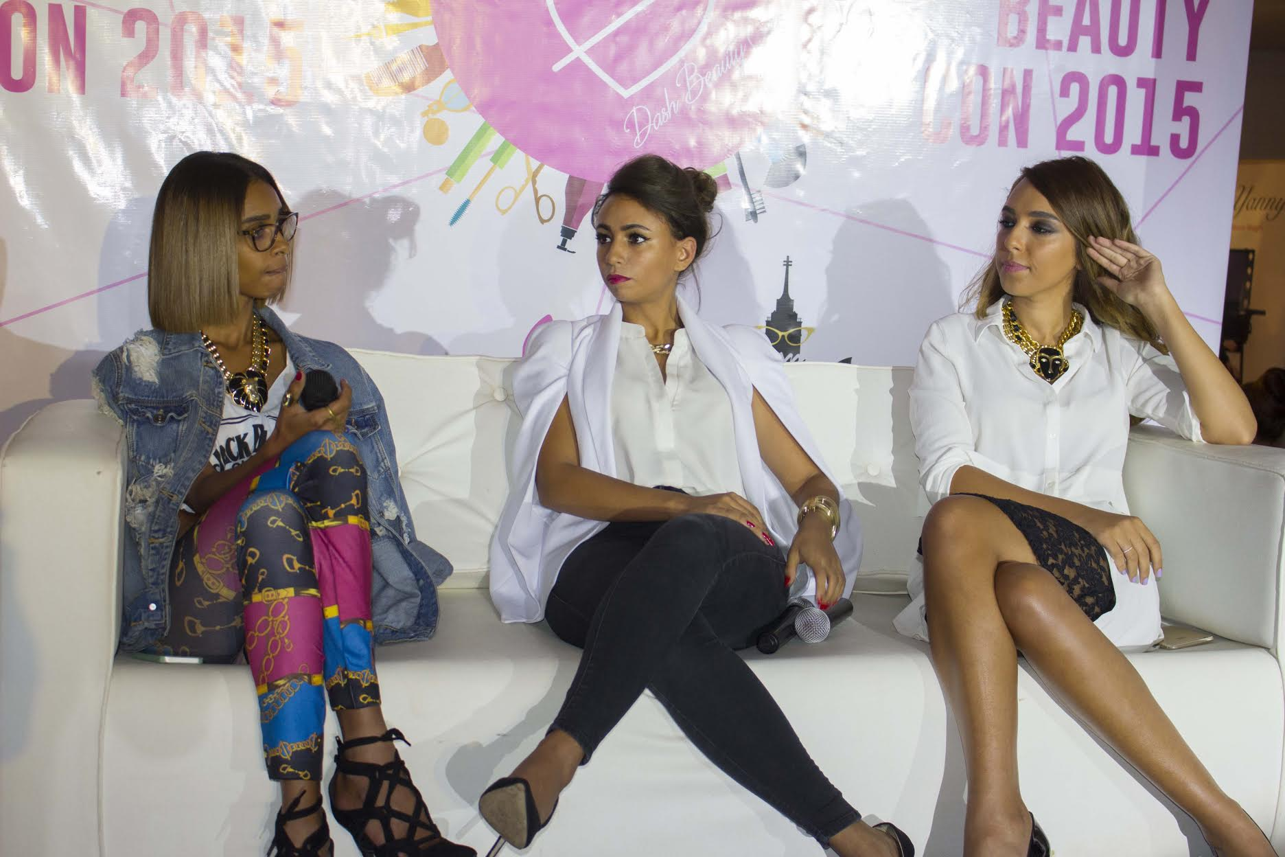 Stylists and influencers Gehad Abd Ellah, Berna Ibrahim and Layla Youssef discussing fashion and trends in Egypt (DNE Photo)