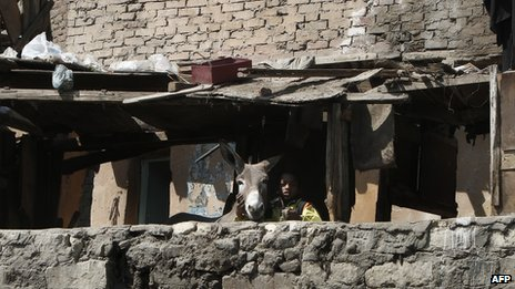 Residents of Cairo's slums have been voicing demands for better housing (AFP Photo)
