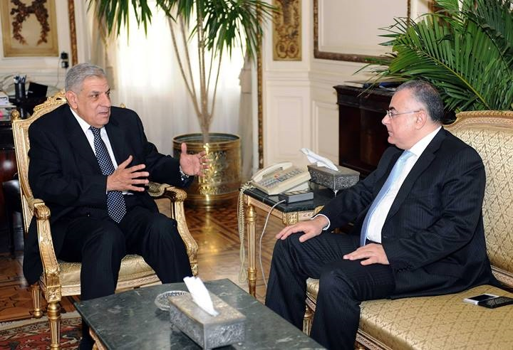 Prime Minister Ibrahim Mehleb met with CBE Governor Hesham Ramez on Monday (Photo courtesy of Ministry of Finance)