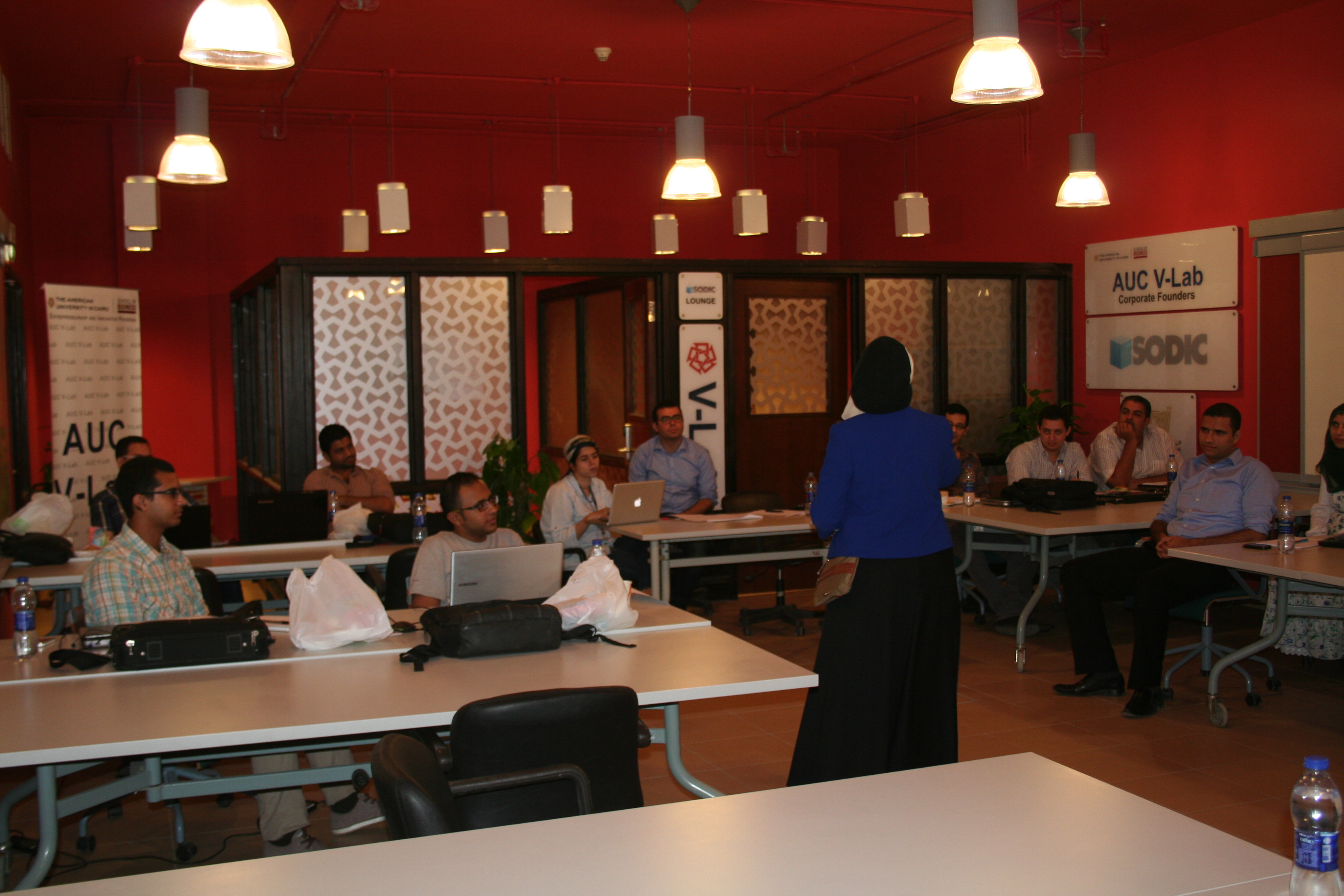 Startups have training sessions, mentorships from AUC faculty members and professors (Photo courtesy of the AUC)