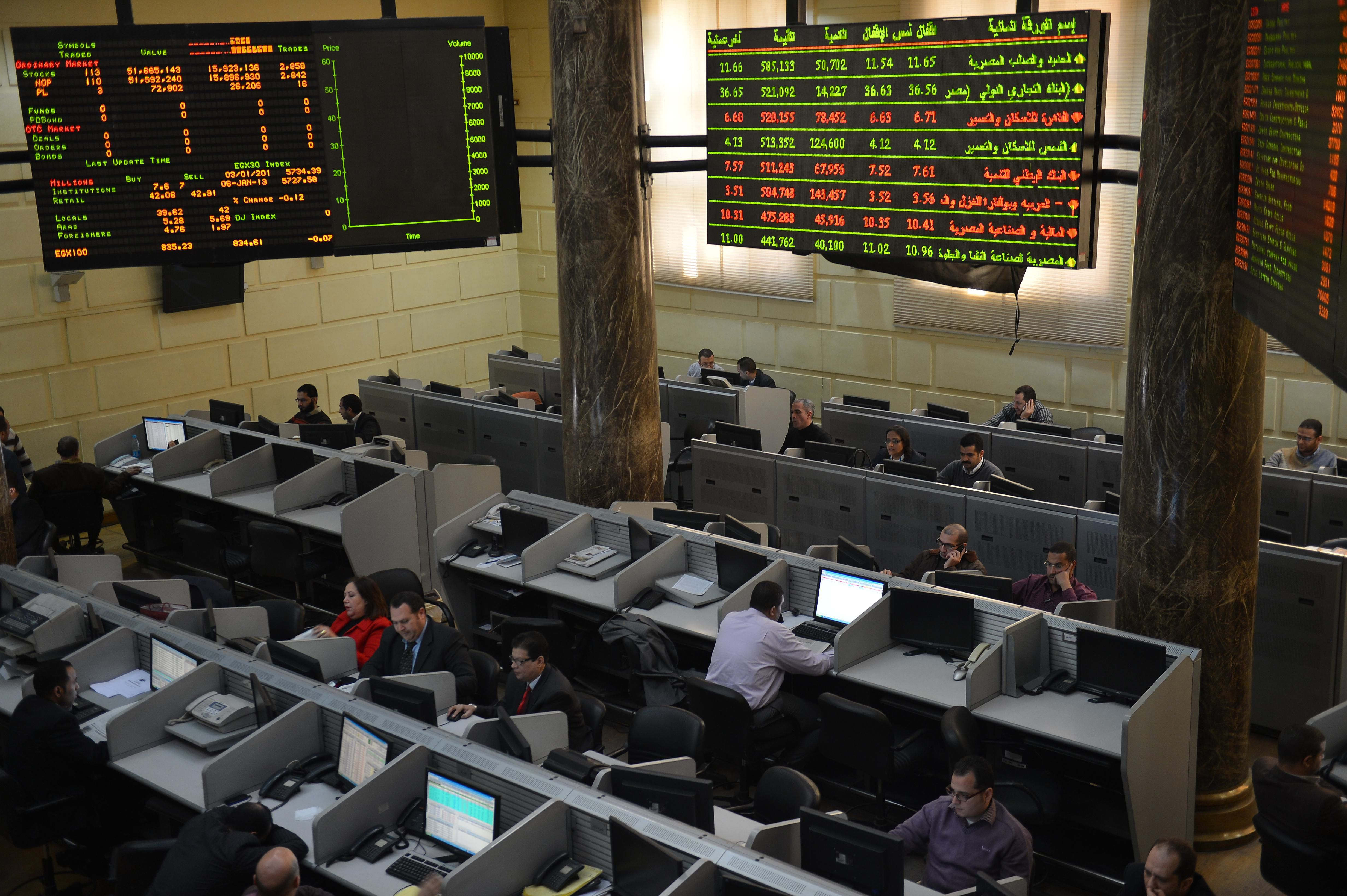 The first half of 2014 witnessed an 800% increase in bourse listed companies' capital. (AFP Photo)