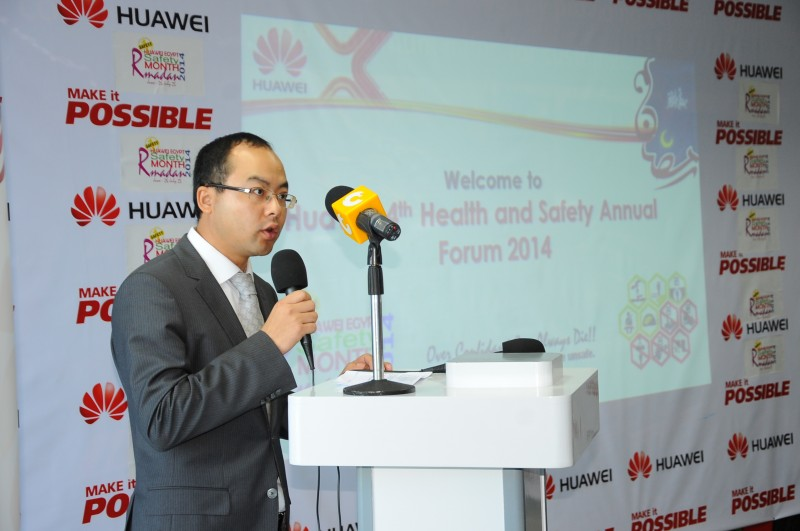 General Manager of Huawei Egypt Yang Tao  (Photo handout o the Daily News Egypt)