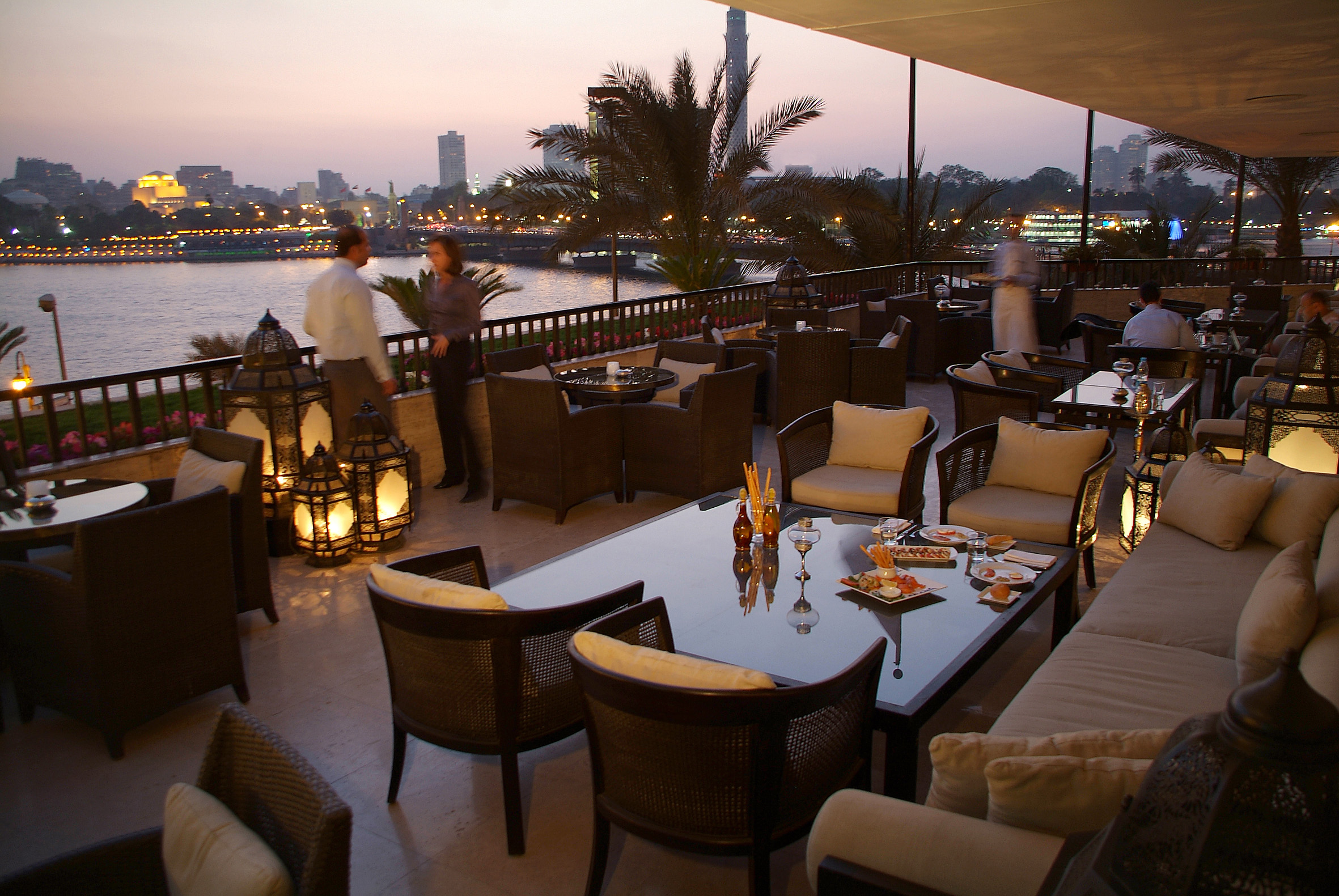 The view from the Pane Vino terrace adds another enchanting dimension (Photo from Semiramis Hotel)