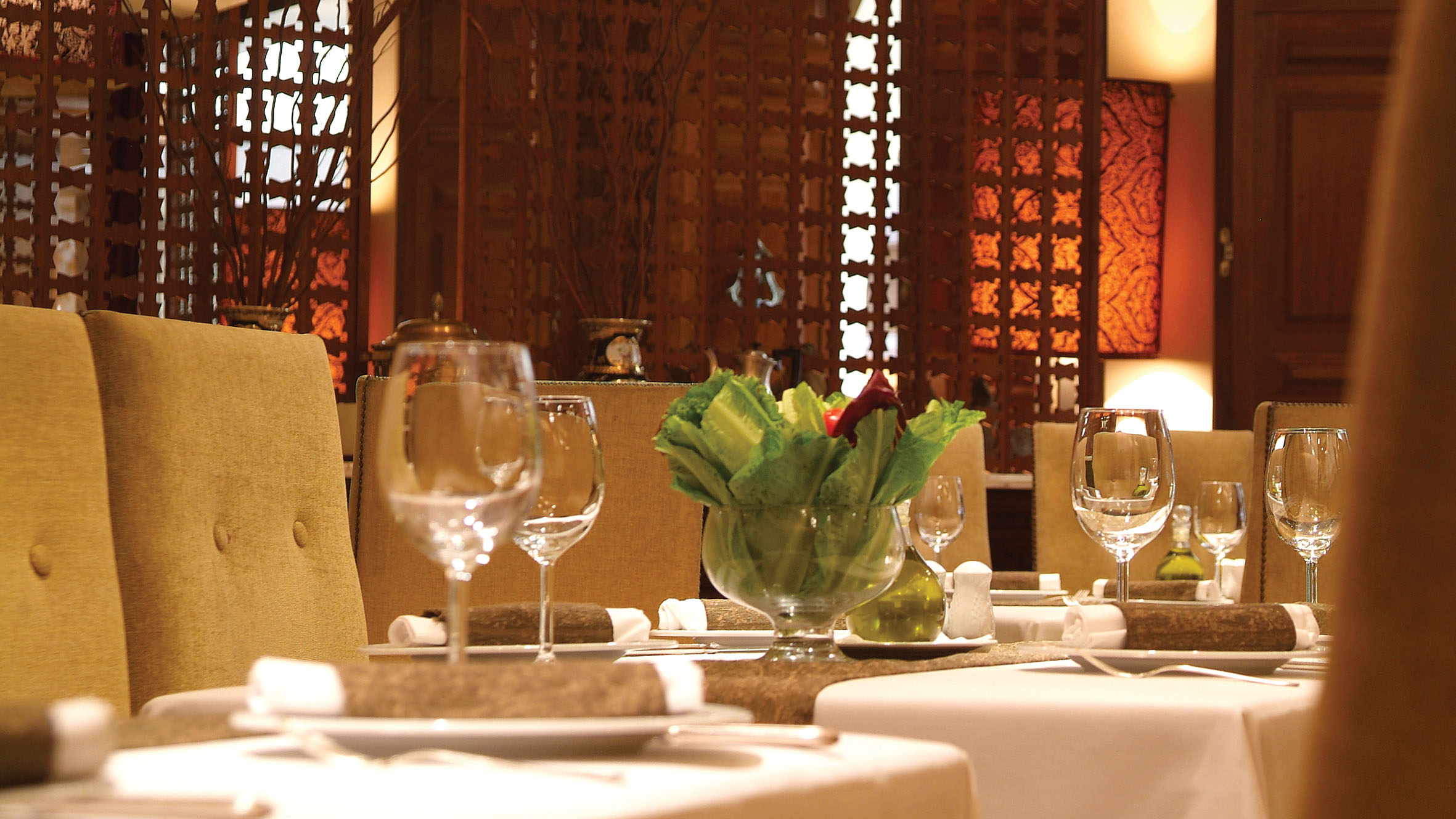 Sabaya at Semiramis Hotel lends an air of sophistication to Lebanese dining (Photo from Semiramis Hotel)