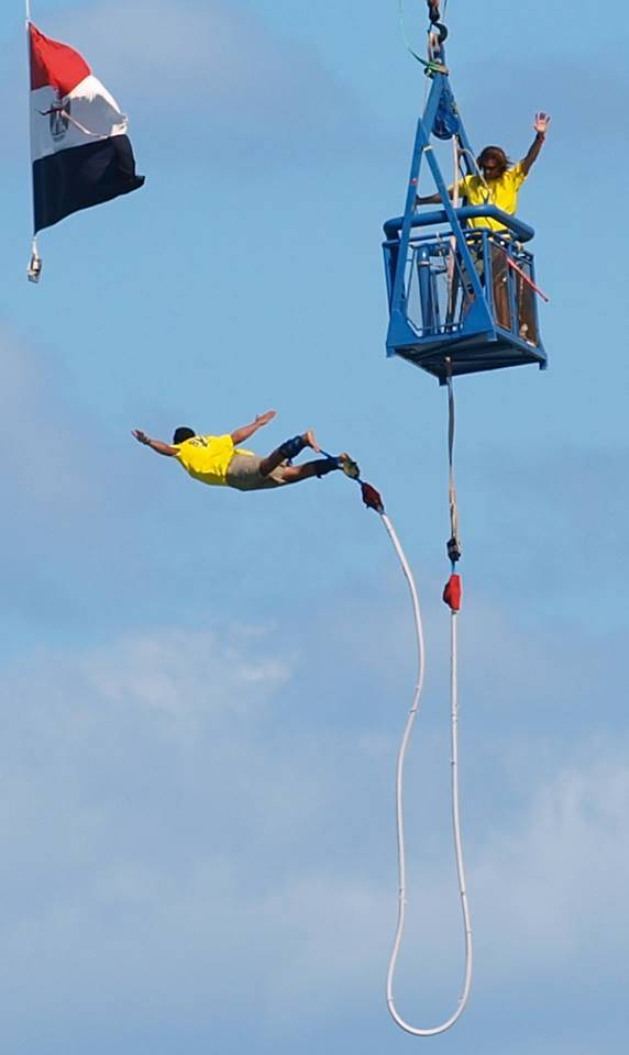 Add some zest to your life and try bungie jumping for your next holiday! (Photo Courtesy of Bungy Egypt)