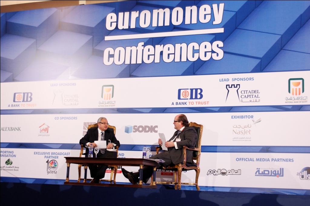 Minister of Tourism Hisham Zaazou during discussions at the Euromoney Conference 2013 in Cairo (DNE Photo)