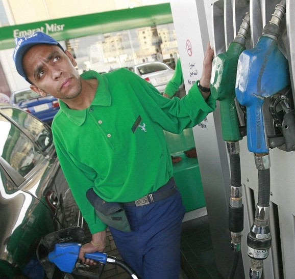 The price difference between a liter of 92 and 95 is approximately EGP 4. (AFP Photo / Khaled Desouki)