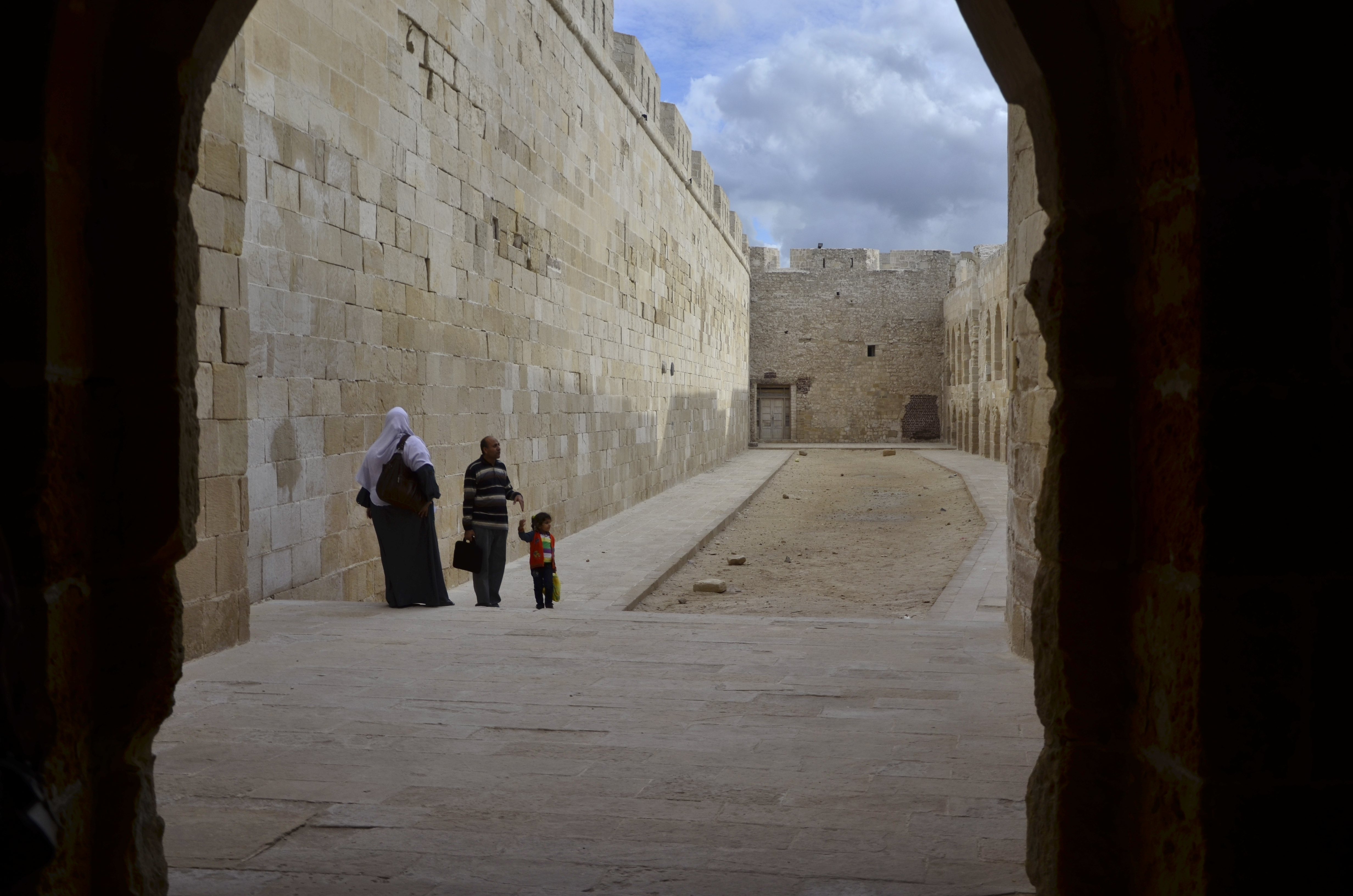 The dungeons of the Qaitbay Citadel in Alexandria beckon its visitors to explore its hidden hallways (Photo by Johannes Makar)