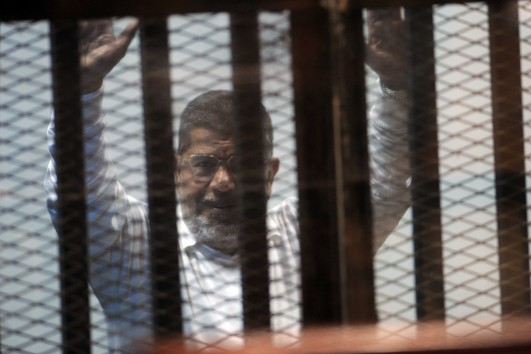 The Cairo Criminal Court sentenced Morsi to death in the Prison Break trial, alongside scores of Muslim Brotherhood leaders, both in this case and the espionage case. (Photo by Ahmed Al-Malky) (DNE Photo)