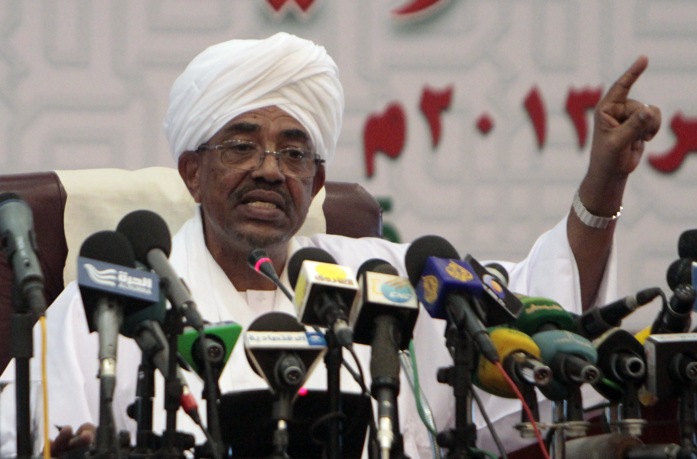 Sudanese President Omar Hassan Ahmed Al-Bashir won the national elections in a landslide victory with 94.5% (AFP File Photo)