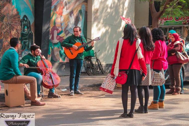 While the intention is to roam Egypt's streets playing music, selecting locations has proven to be a difficult task (Photo by Ramy Fayez)