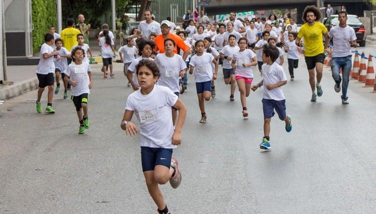 Over 300 children participated at the biggest kid marathon in Cairo