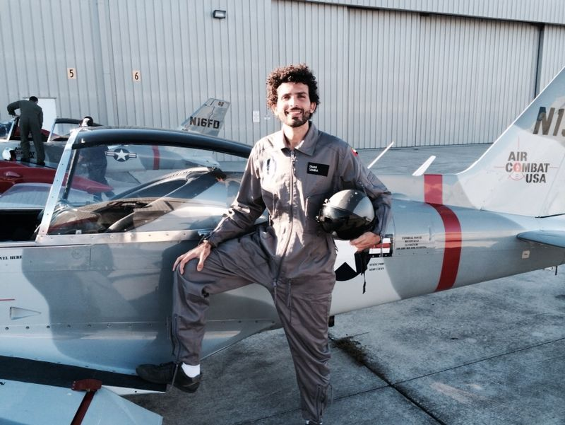 Omar Samra during the test flights, part of his space journey training (Photo courtesy of Omar Samra)