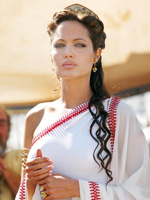 Angelina Jolie, who is set to play Cleopatra in a new film, as Olympias