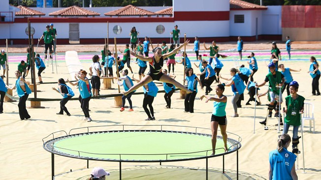 Performers practice for the World Cup opening ceremony, which will be broadcast in many Cairo cafes and bars Thursday at 9pm (Photo from FIFA.com)