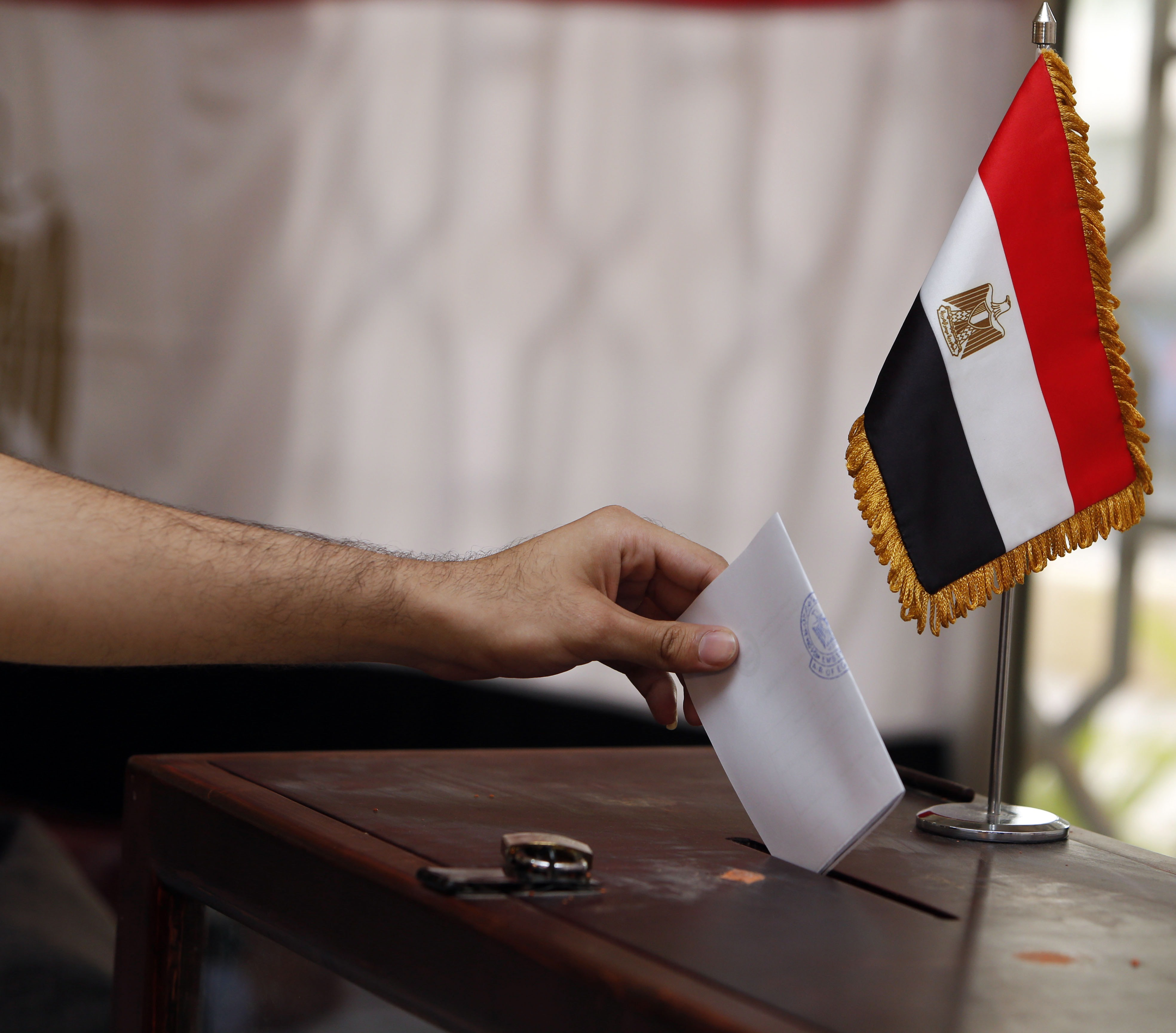 The first stage of Egypt's parliamentary election is set to take place on 22 and 23 March, the second on 26 and 27 April. For Egyptians residing abroad the first stage will be on 21 and 22 March and the second on 25 and 26 April (AFP FILE PHOTO / MOHAMMED MAHJOUB)