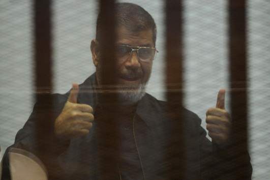 An Egyptian court ruling that sentenced ousted president Mohammed Morsi and 105 other to death. (DNE Photo)