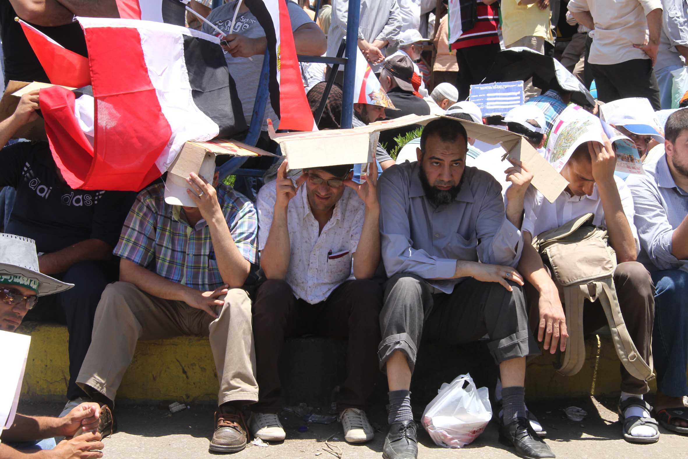 Islamists continue their sit-in in support of former president Morsi (Photo by Mohamed Omar/DNE/File Photo)