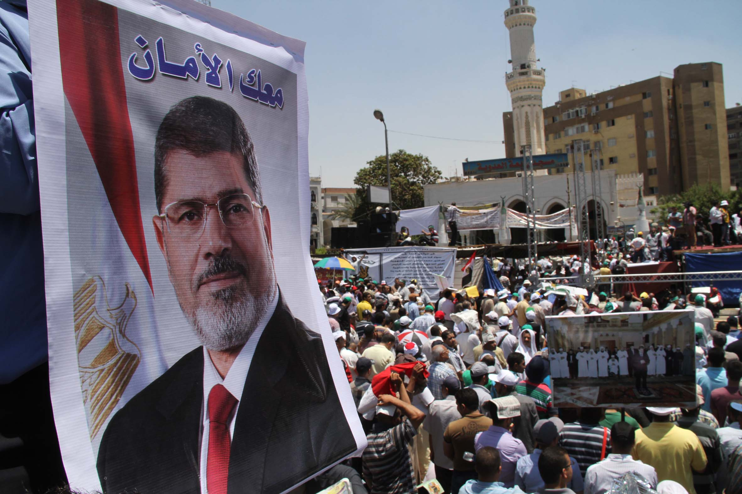 Thousands of President Morsi's supporters demonstrated on Friday in anticipation of upcoming opposition protests (Photo by Mohamed Omar/DNE)