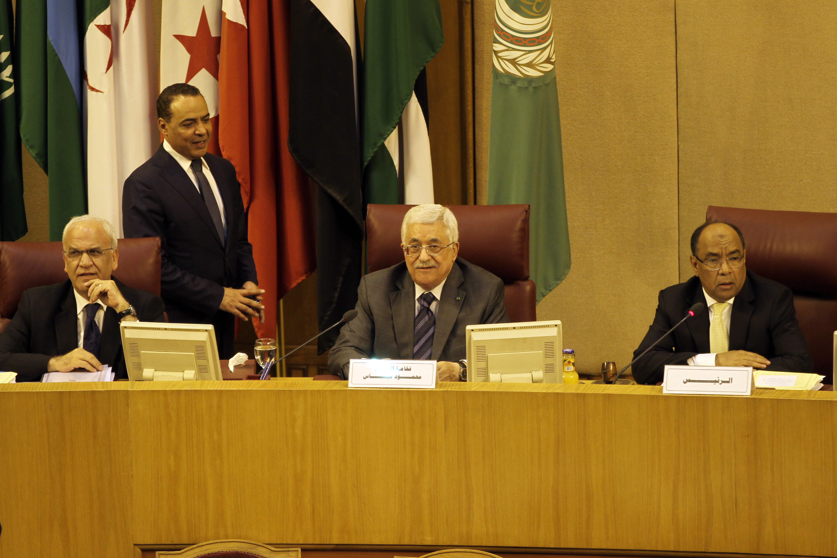 Palestinian Authority President Mahmoud Abbas attended the meeting. (Photo by Ahmed Al-Malky/DNE)