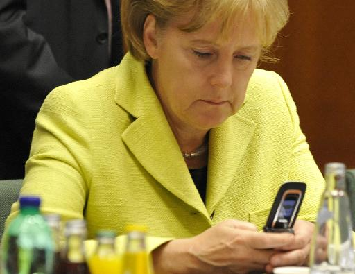 "German Chancellor Angela Merkel told US President Barack Obama that ""spying between friends is not done"" amid reports that her phone was bugged for more than a decade  (AFP/File, Gerard Cerles)"