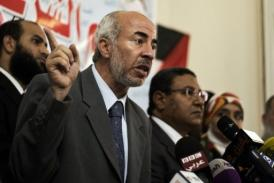 Muslim Brotherhood and Anti-Coup Alliance members give a press conference on September 4, 2013 in Cairo (AFP, Gianluigi Guercia)