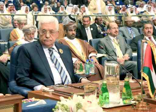 Palestinian President Mahmoud Abbas attends the 25th Arab League summit at Bayan palace in Kuwait City on March 26, 2014  (AFP, Ysser Al-Zayyat)