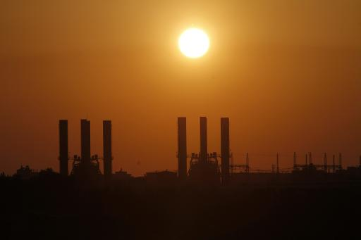 View of the Gaza Strip's sole power plant in Nusairat, on March 26, 2012 (AFP/File, Mohammed Abed)
