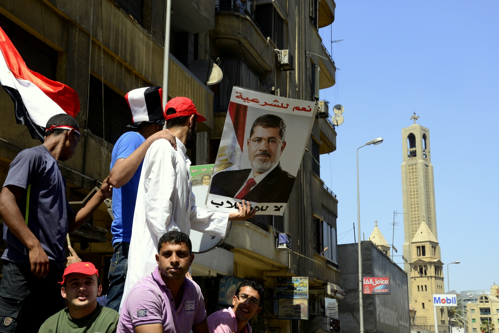 Morsi supporters march from Ramses Square to Rabaa sit in (Photo by Aaron T Rose/DNE)