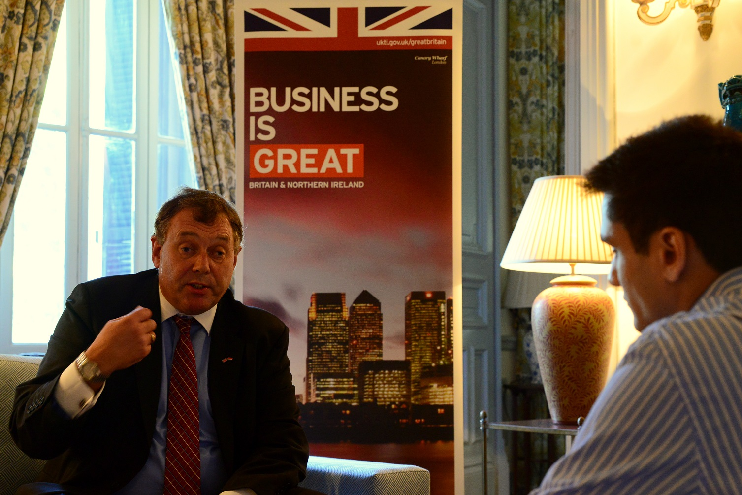 Director of Trade & Investment John Franck speaks to the Daily News Egypt about the challenges facing British investors and how the government can pace the way towards a better investment environment. (Photo By Aaron T.rose)