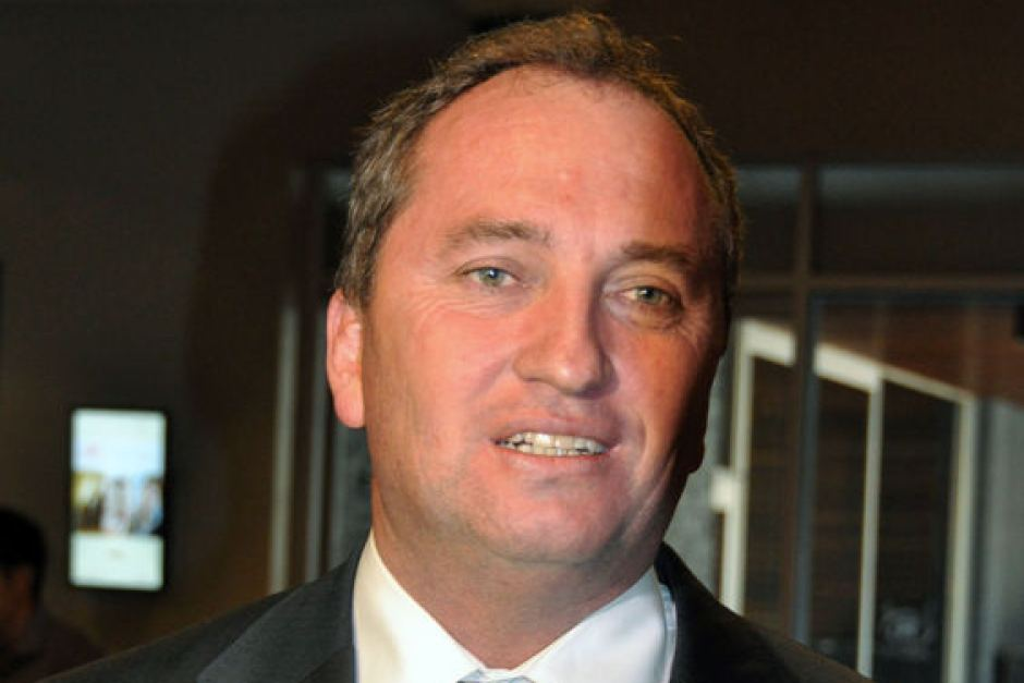 Australia's Minister of Agriculture, Barnaby Joyce (AFP Photo)