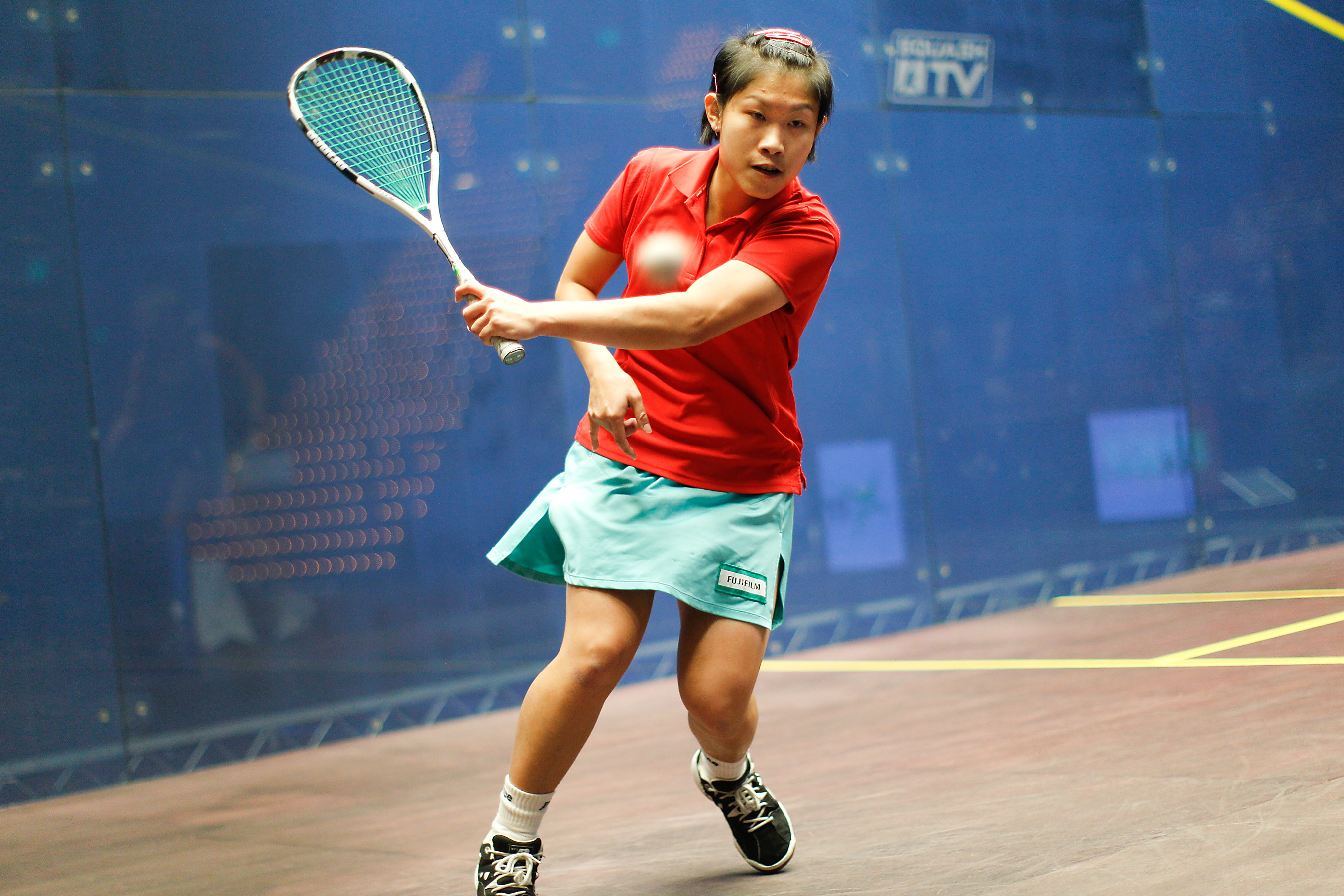 The female Hong Kong player Annie Au was titled champion of the tournament's female competitions, after defeating the Egyptian player Habiba Mohamed in the final game with scores of 7-11, 11-8, 11-9, 4-11, 8-11.