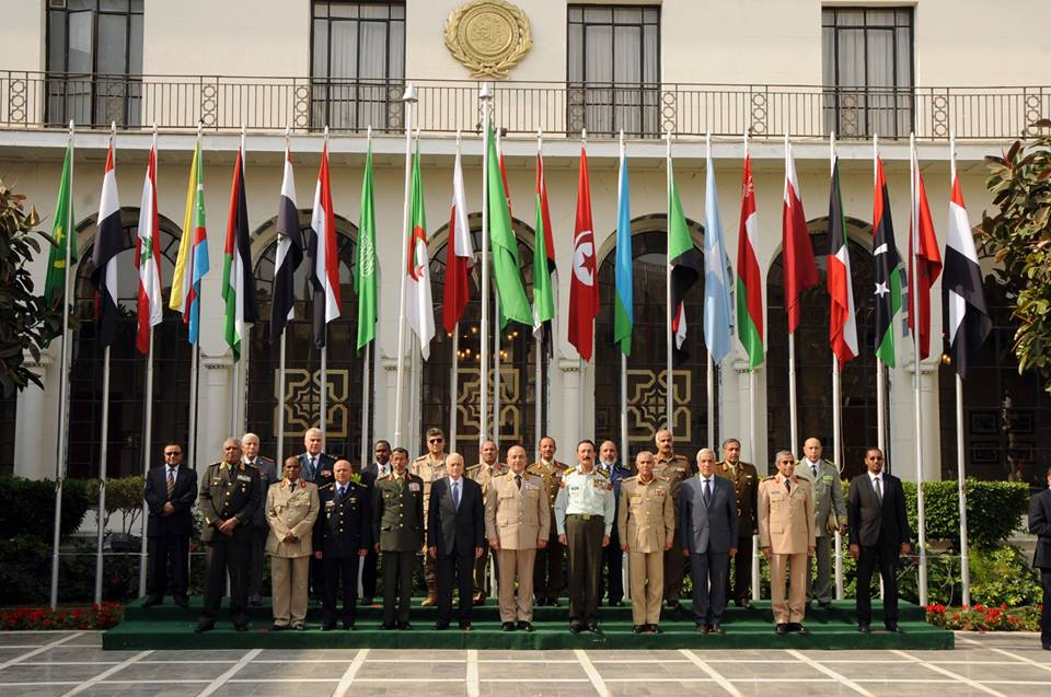 Arab Chiefs of Staff pose for a picture at the Arab League headquarters. (Photo from Military spokesperson page)