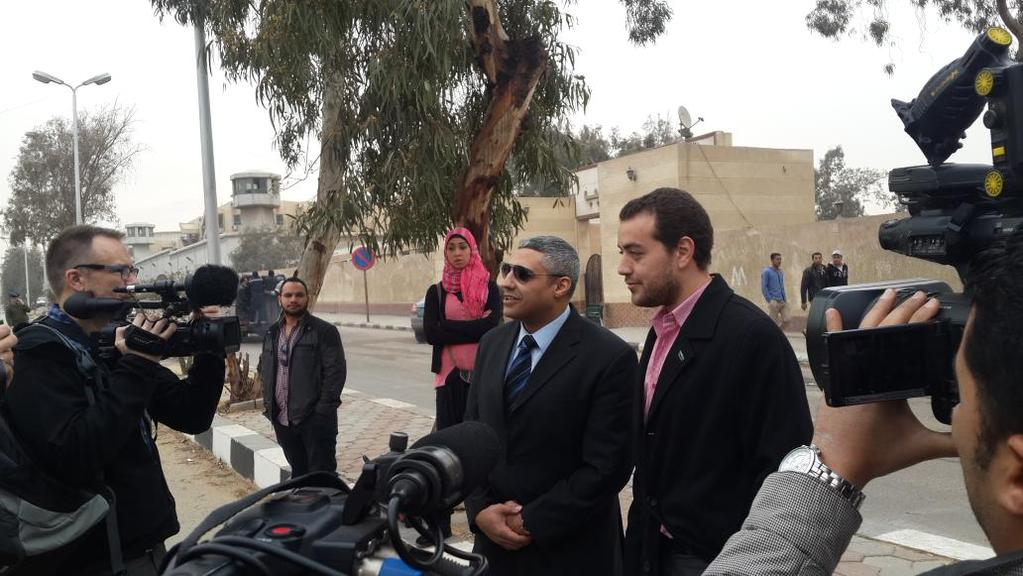Baher Mohamed and Mohamed Fahmy talking to the media Sunday morning DNE Photo