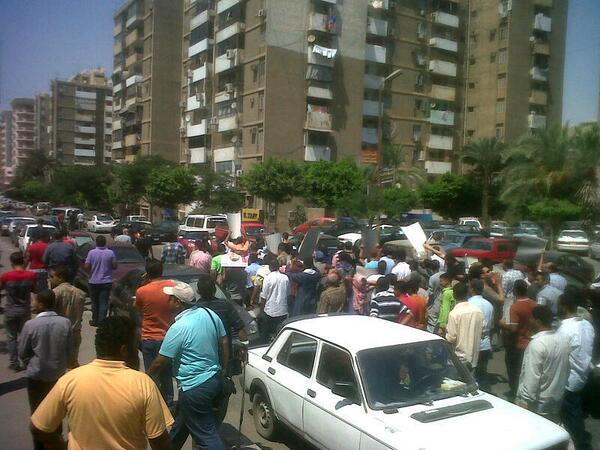 Pro- Morsi protest heading  from Al-Iman mosque to Nasr street Mostafa Salem