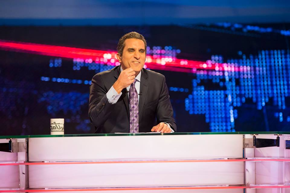 "Bassem Youssef in episode of ""El-Bernameg"" Yesterday. (Photo from Bassem Youssef)"