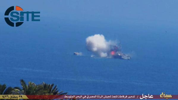 """State of Sinai"" claimed an attack on a Navy ship Thursday. (Twitter @siteintelgroup)"