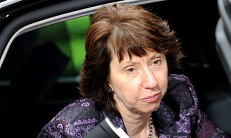 European Union High Representative Catherine Ashton is visiting Egypt on Tuesday and Wednesday to meet with government leaders. (AFP Photo)