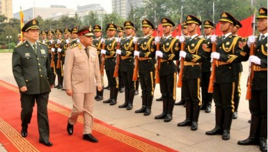 Egyptian Defence Minister Sedki Sobhi met with his Chinese counterpart, Chang Wanquan, Tuesday during an official visit to China intended to strengthen Egyptian-Chinese military cooperation