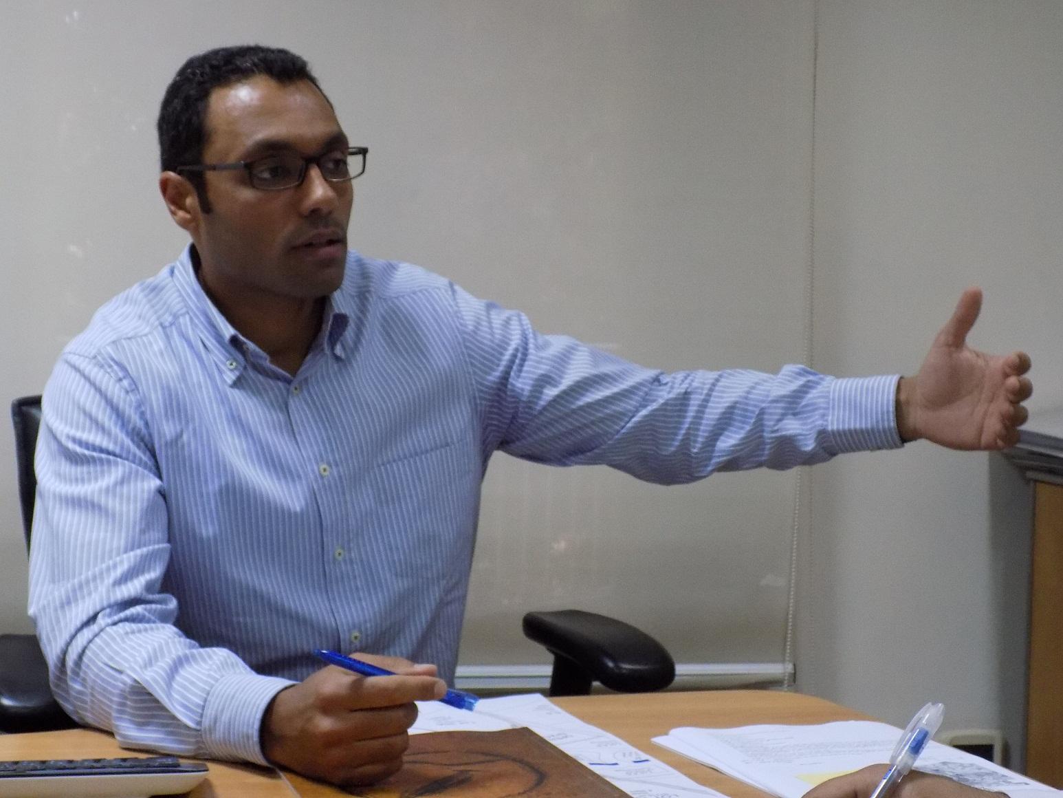 Abu Bakr Makhlouf, Director – Commercial of Egyptian Resort Company (Photo Handout to DNE)