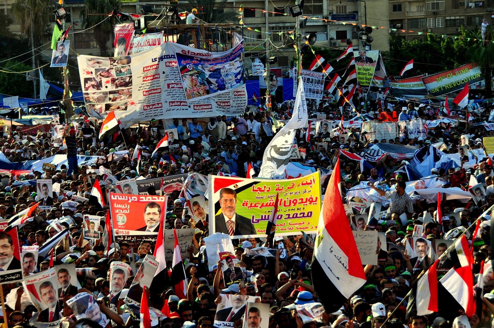 Pro Morsi march in Nasr City