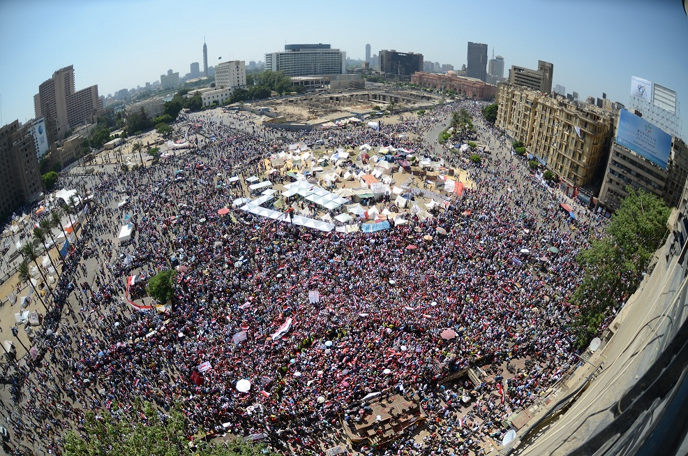 Anti Morsi Protesters at Tahrir Square today June 30,2013 (Photo by Halim ElShaarani)