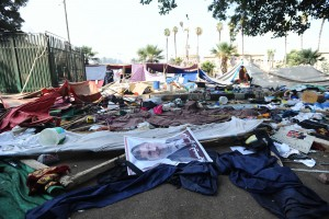 Nahda sit in dispersal (Photo by Mohamed Omar/DNE)