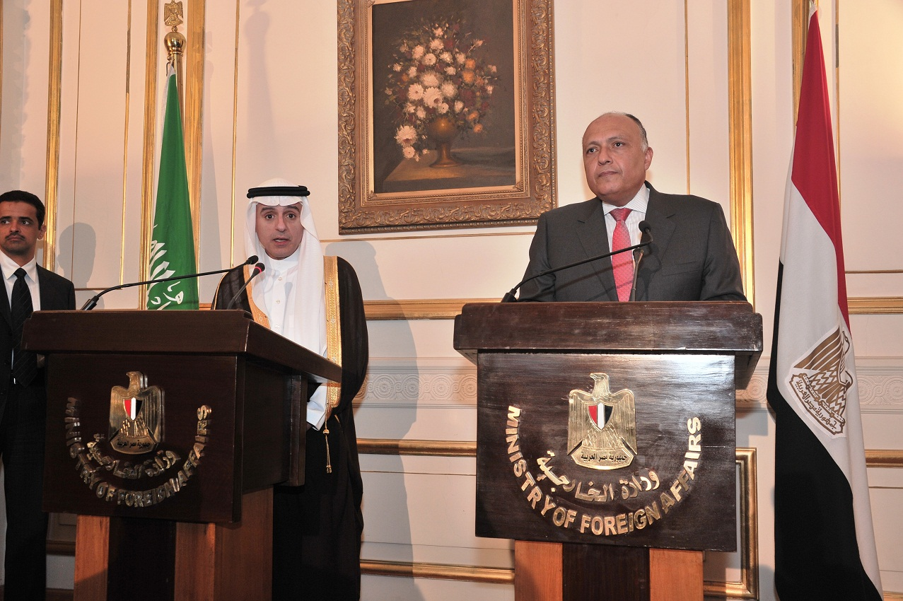 Saudi Arabian Foreign Minister Adel al-Jubeir arrived Sunday in Egypt for his first visit since his appointment last April to hold talks over the situation in the Arab region. (DNE Photo\Ahmed Al-Malky)