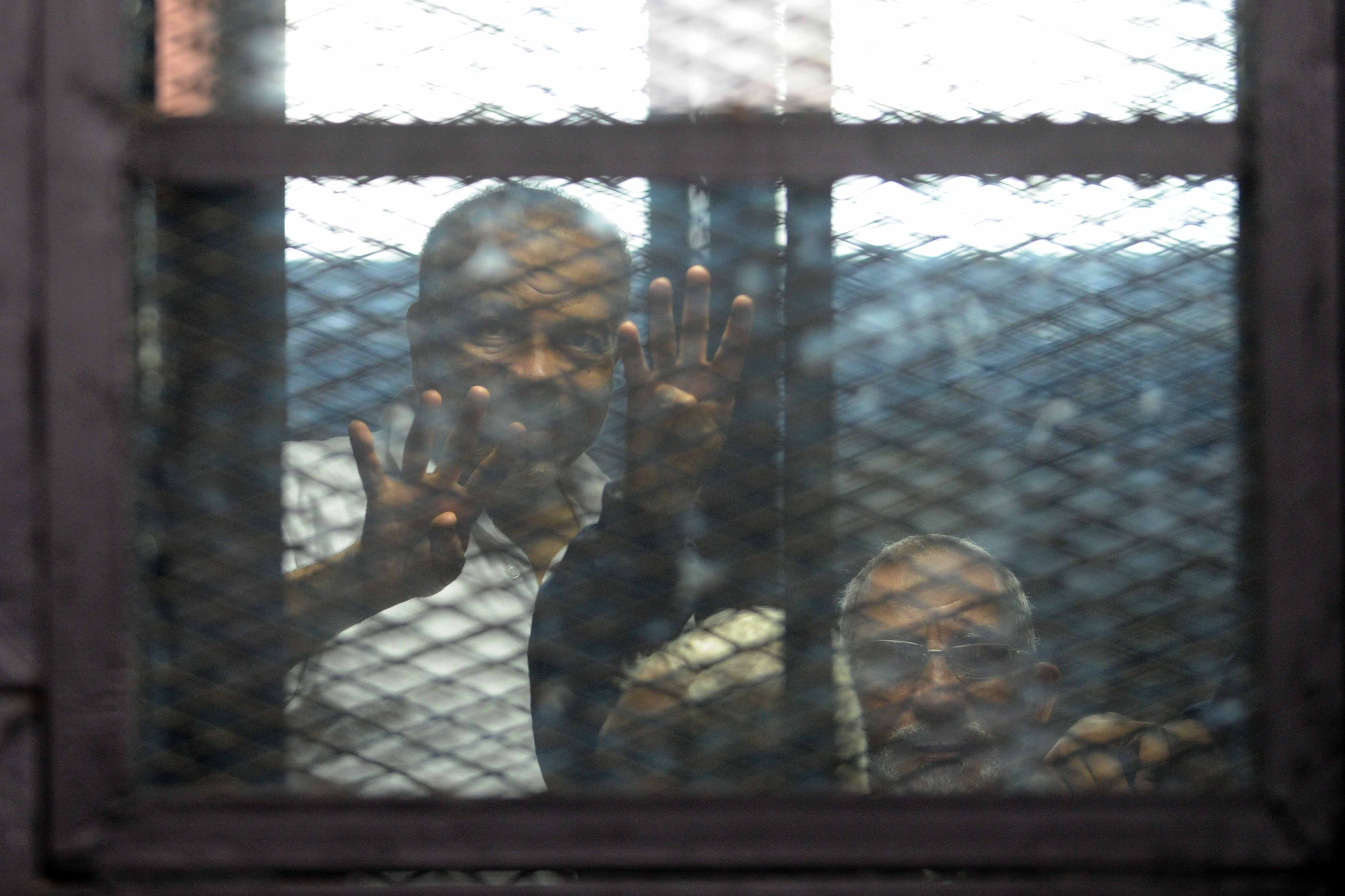 The trial of leading Muslim Brotherhood figures, including Supreme Guide Mohamed Badie, for the violence outside the Brotherhood's headquarters in 2013 was postponed on Tuesday to 16 August. (DNE Photo)
