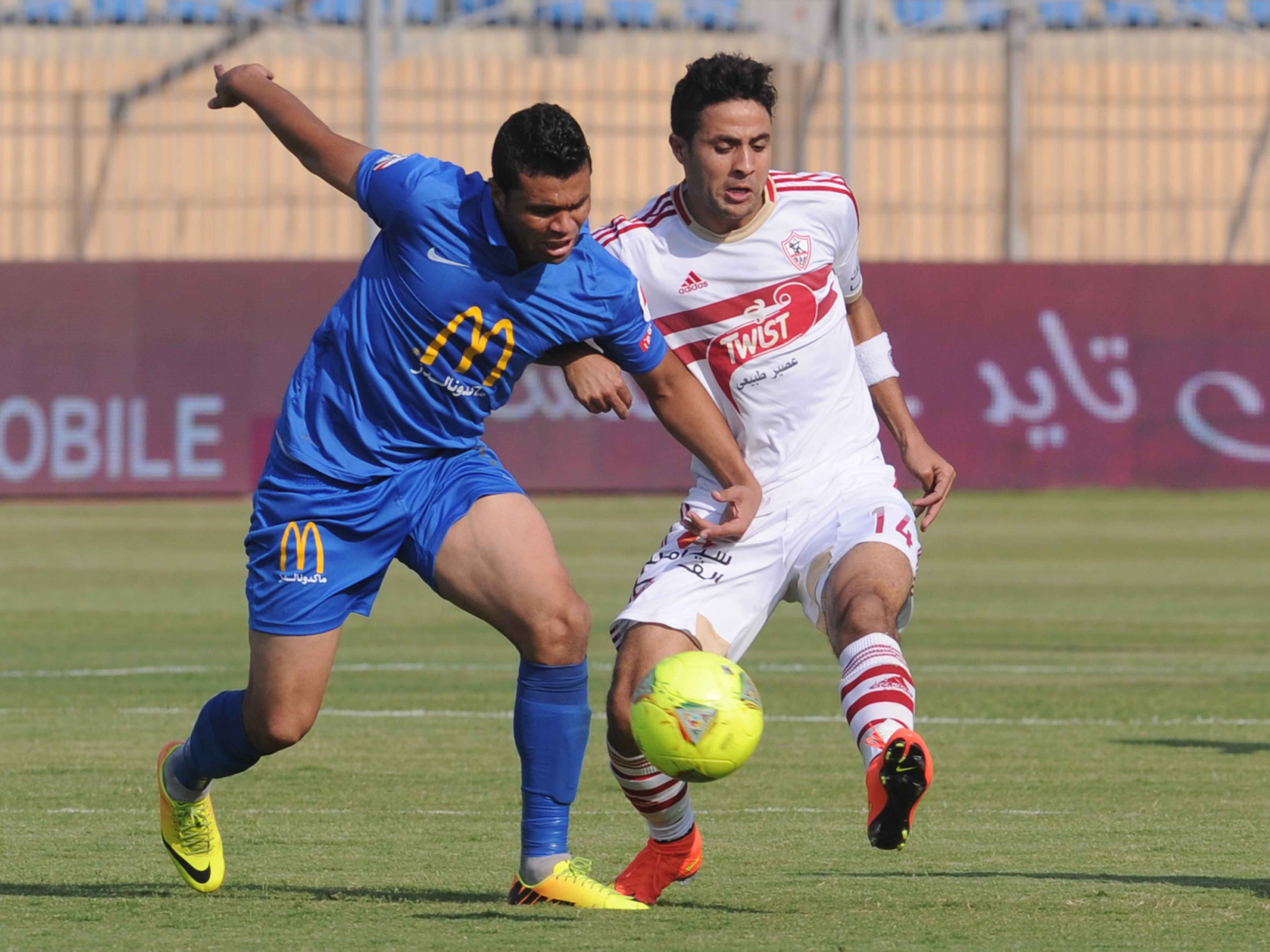 Saturday's match started off poorly for the White Knights, as El-Shorta opened the score after 15 minutes. Al-Zamalek bounced back, taking a 2-1 lead before half time. (Photo by Mohamed Omar)