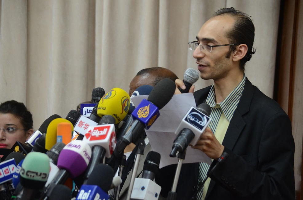 'Tamarod' (Rebel) leader Mohamed Abdel Aziz (DNE Photo)
