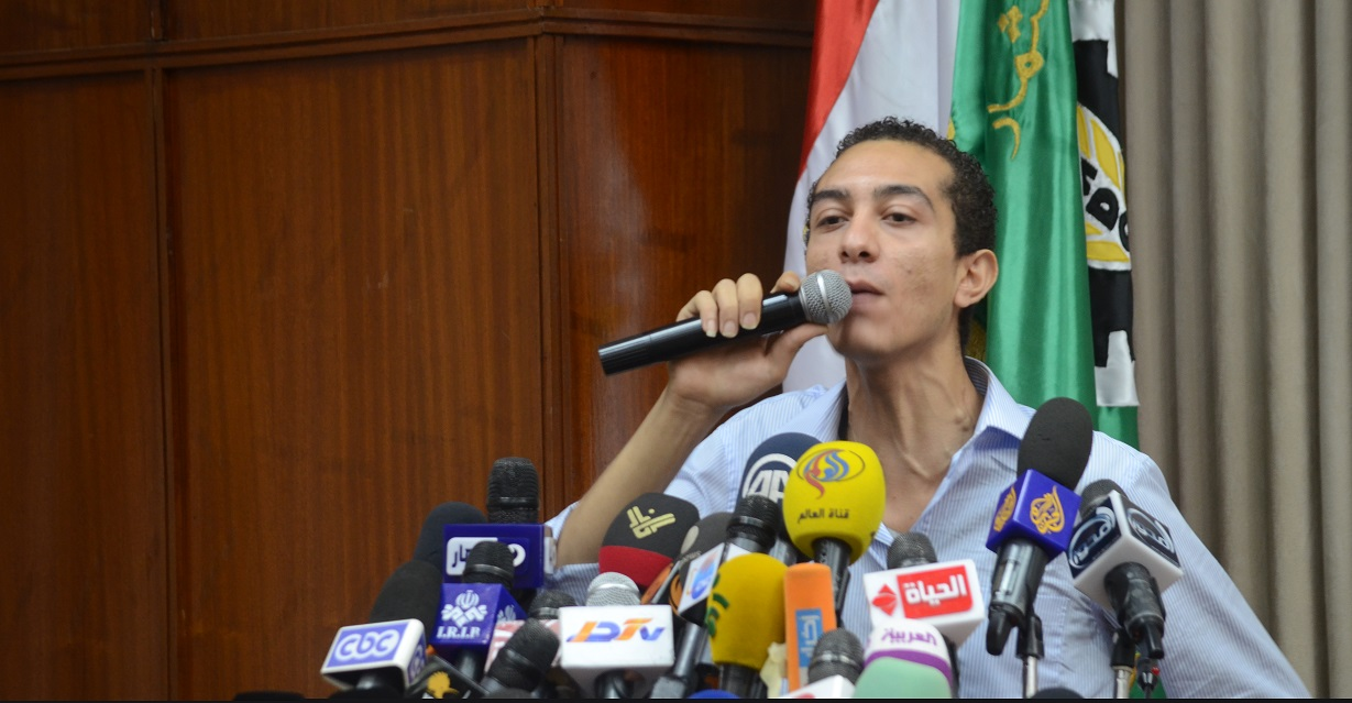 In a press conference, a statement was released on behalf of the 30 June Front stating that it had been launched to represent a unified leadership for the coming phase.  (Photo by Halim El- Shaarani)